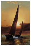 Red Sails Prints by Diane Romanello