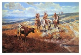 White Man's Buffalo Prints by Charles Marion Russell