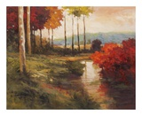 Autumn River in Tuscany Poster by Kanayo Ede