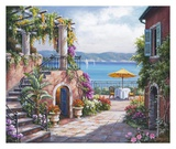 Tuscan Terrace Poster by Sung Kim