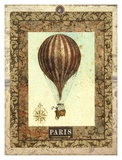 Vintage Hot Air Balloon I Art by Miles Graff