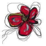 Butterfly Red Kunstdrucke von Jan Weiss