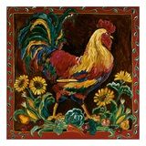 Rooster Rustic Prints by Suzanne Etienne
