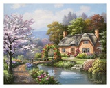 Spring Creek Cottage Posters by Sung Kim