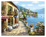 Overlook Cafe I Print by Sung Kim