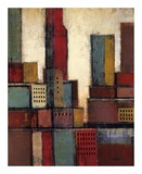 City Block Skyline II Print by Joel Holsinger