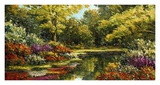 Oriental Garden I Prints by Peggy Corthouts