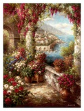 Mediterranean Coast Terrace Art by Rollins 