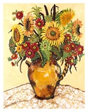 Farmer&#39;s Market Sunflower Art by Suzanne Etienne