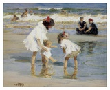 Children Playing at the Seashore Print by Edward Henry Potthast