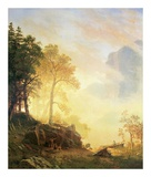 Merced River in Yosemite Pôsters por Albert Bierstadt
