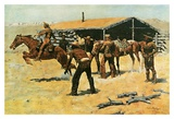 Coming and Going of the Pony Express Poster by Frederic Remington