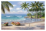 Tropical Bay Art by Sung Kim