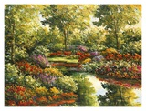Water Garden Reflections Art by Peggy Corthouts