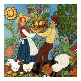 Farm Couple Poster by Suzanne Etienne