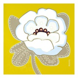 White Pop Flower Prints by Monica Kuchta