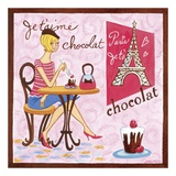 French Chocolate Prints by Jennifer Brinley
