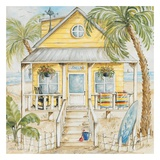 Yellow Beach House Prints by Kate McRostie