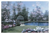 Lakeside Gazebo Prints by Diane Romanello