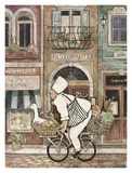 Chef on Bike Prints by Betty Whiteaker