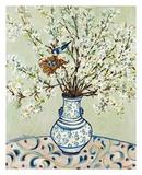 Blue and White Vase with Bird Art par Suzanne Etienne