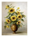 Sunflowers in Bronze I Print by  Welby