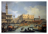 The Betrothal of the Venetian Doge to the Adriatic Posters by Canaletto 