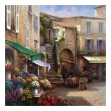 Flower Market Courtyard Posters af Han Chang