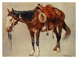 Navajo Pony Art by William R. Leigh