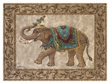 Royal Elephant II Print by Janet Kruskamp