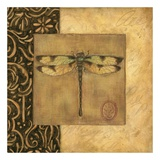 Dragonfly Square Art by Susan Winget