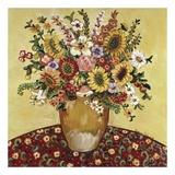 Golden Vase Floral Plakater af Suzanne Etienne