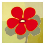 Wow Flower Red Posters by Monica Kuchta