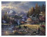 Mountain Hideaway Poster by James Lee