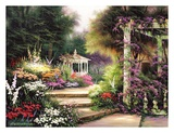 Jardín esmeralda Láminas por Egidio Antonaccio