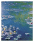 Waterlilies at Giverny Pôsteres por Claude Monet