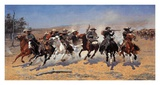 A Dash For Timber Poster von Frederic Sackrider Remington