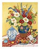 Poires et fleurs Art par Suzanne Etienne