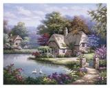 Cottage de cygnes I Affiches par Sung Kim