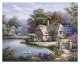 Swan Cottage I Posters by Sung Kim