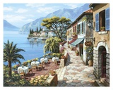 Overlook Cafe II Print by Sung Kim