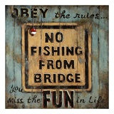 No Fishing Art by Janet Kruskamp