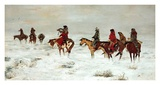 Lost In A Snowstorm, We Are Friends Print by Charles Marion Russell