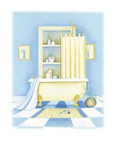 Blue Bathroom I Prints by Alexandra Burnett