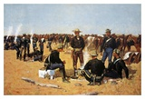 A Calvaryman's Breakfast On The Plains Print by Frederic Sackrider Remington