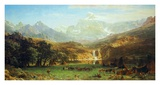 The Rocky Mountains, Lander's Peak Plakater af Albert Bierstadt