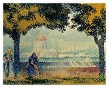 The Church of Santa Maria degli Angely near Assisi Posters by Henri Edmond Cross