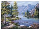 Lakeside Lodge Prints by Sung Kim