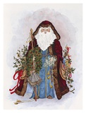 Celestial Santa Poster by Peggy Abrams