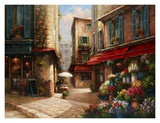 Flower Market Lane Print by Han Chang
